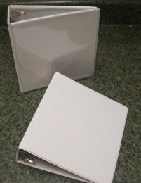 "5 1/2 X 8 1/2 White 2"" View Binder"