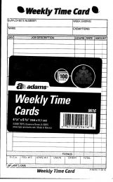 9616 Weekly Time Cards