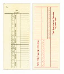 9660-200 Time Cards - Two sided