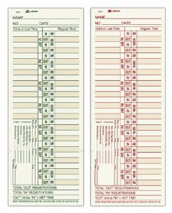 9675-200 Time Cards Two-Sided