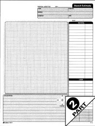 Adams DC8511 Sketch Estimate Pad 2 Part