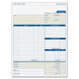 Adams NC2817 Job Invoices Unit Set 2-Part