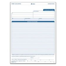 Adams NC3822 Contractor invoices Unit Sets 3-Part