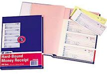 TCH1185 Hardbound Money Receipts Books