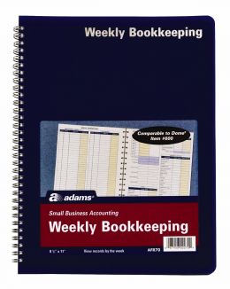 AFR70 Weekly Bookkeeping Record Books