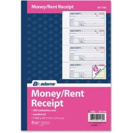 DC1182 Money/Rent Receipts Book 2-Part