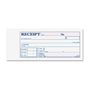 ... TC2701 Money/Rent Receipts Books 3 Part  Money Receipts